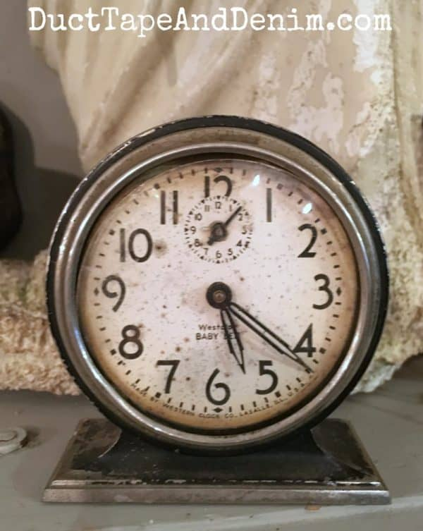Vintage Baby Ben clock at Roseville, California antique store | DuctTapeAndDenim.com