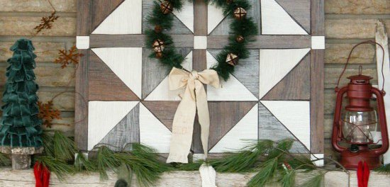 DIY Barn Wood Quilt Christmas Wall Decor | 12DoC, Day Twelve