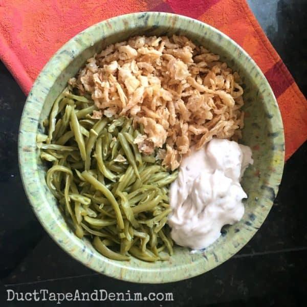Green bean casserole recipe ingredients