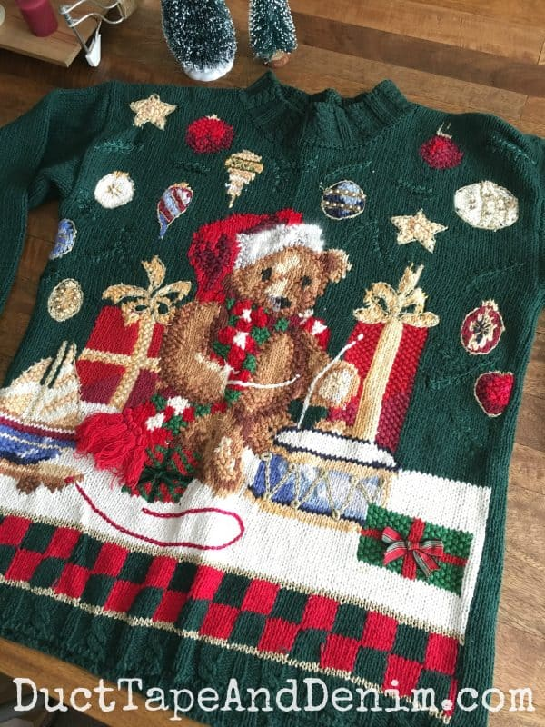 My ugly Christmas sweater! DuctTapeAndDenim.com