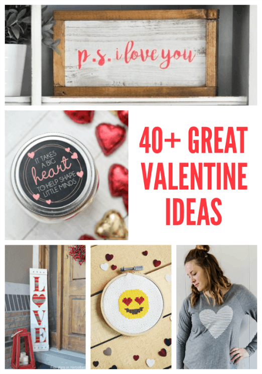 40+ easy Valentine projects, Valentine's Day craft ideas on DuctTapeAndDenim.com