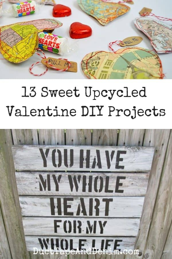 13 sweet upcycled valentine crafts, collage