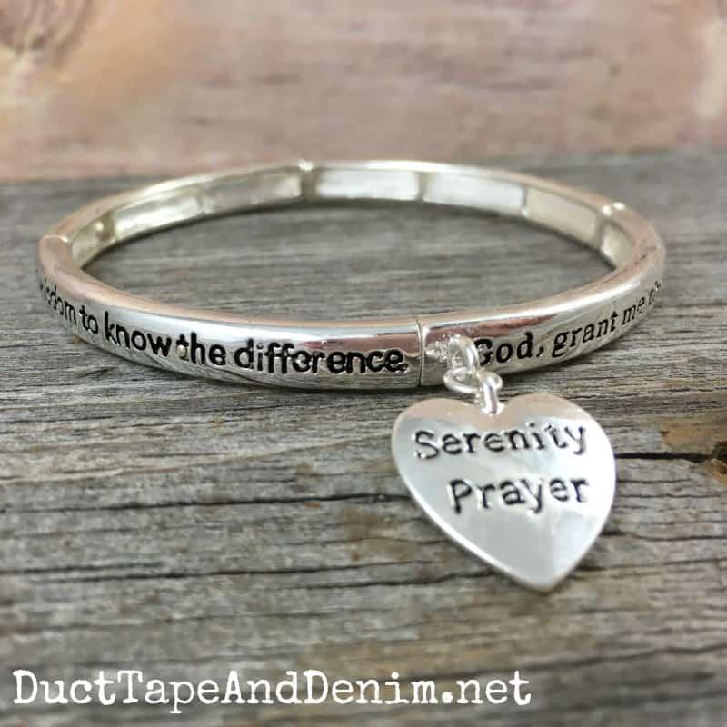 Serenity Prayer Bracelet Elastic Cuff