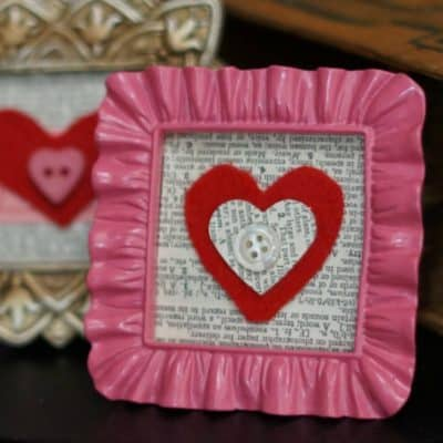 Felt Valentines in mini frames SQUARE