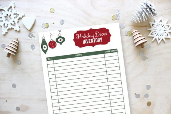 January Christmas decor inventory