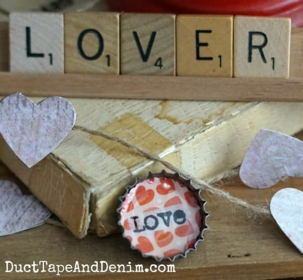LOVE bottle top Valentine's Day magnet | DuctTapeAndDenim.com