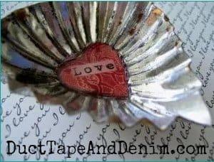 LOVE vintage tart tin Valentine's Day magnet | DuctTapeAndDenim.com