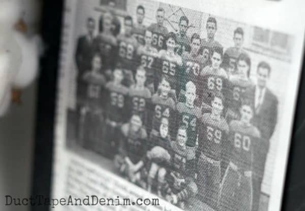 My grandfather's football team, vintage photo | DuctTapeAndDenim.com