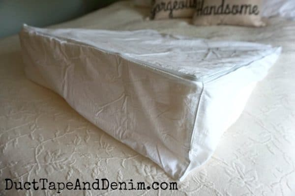 Our new wedge pillow   DuctTapeAndDenim.com