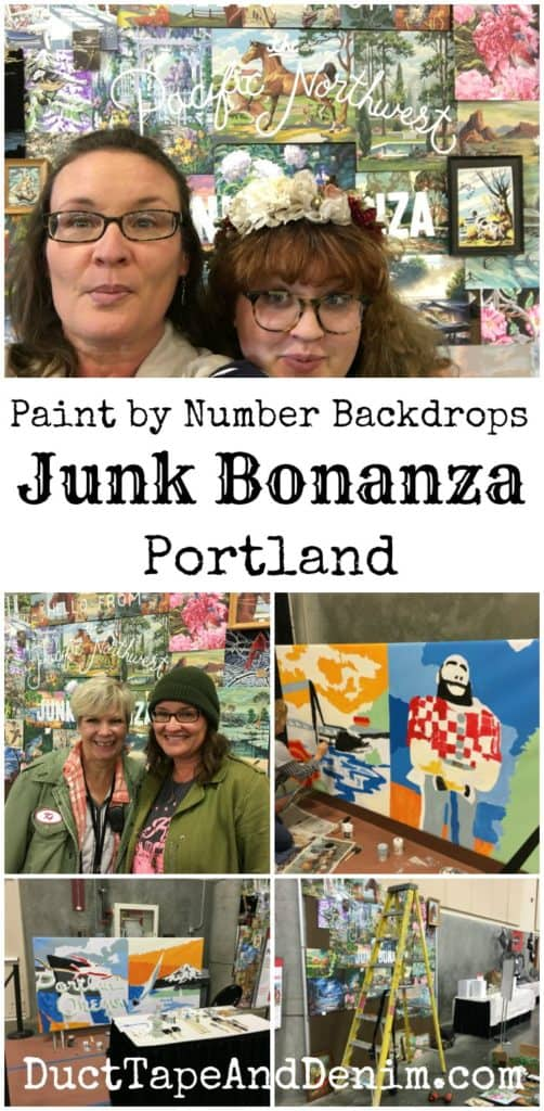 Paint by Number Backdrops at Junk Bonanza Portland | DuctTapeAndDenim.com