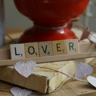 How to Use Valentine Scrabble Tiles in an Easy Centerpiece