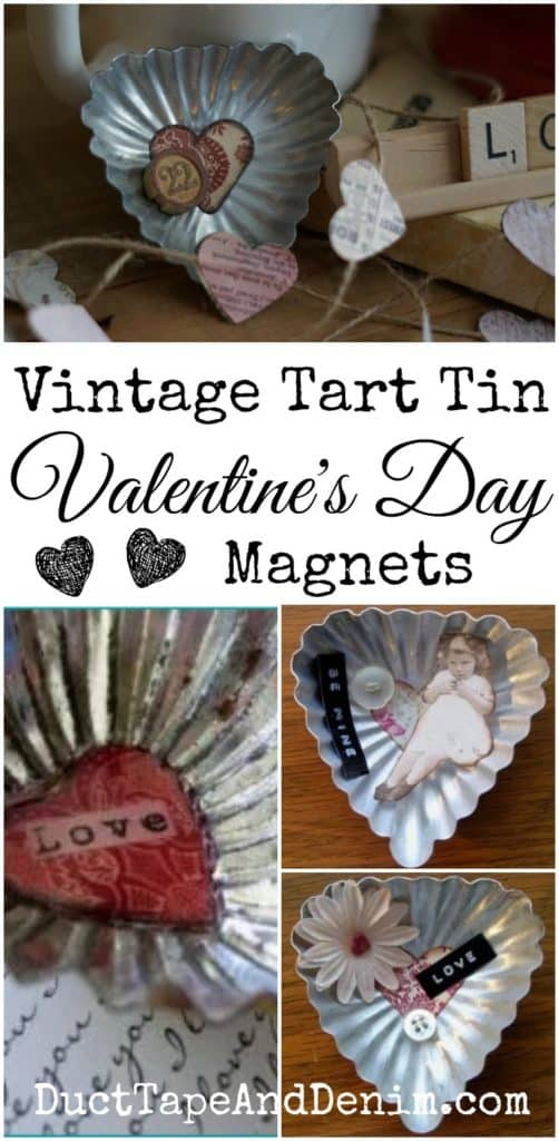 Vintage Tart Tin Valentine's Day Magnets | DuctTapeAndDenim.com