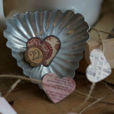Vintage Tart Tin Valentine's Day Magnets