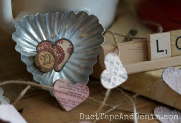 Vintage tart tin Valentine's Day magnet | DuctTapeAndDenim.com