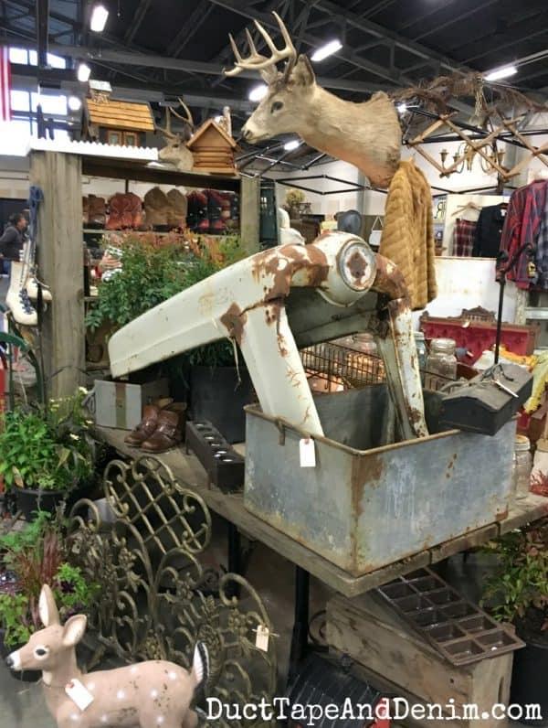 Vintage tractor grill at Junk Bonanza Portland | DuctTapeAndDenim.com