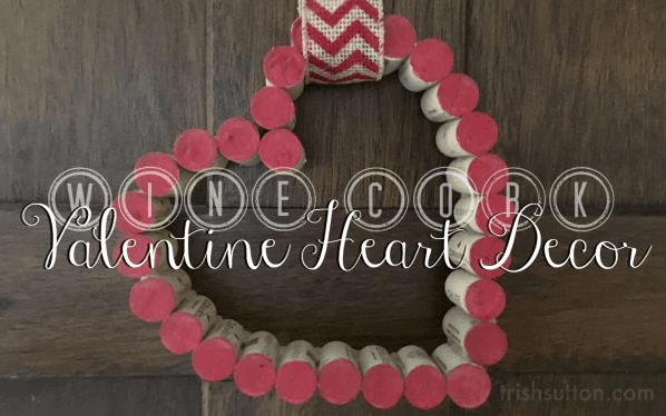 Cork heart wreath. More DIY Valentine's Day wreath ideas on DuctTapeAndDenim.com