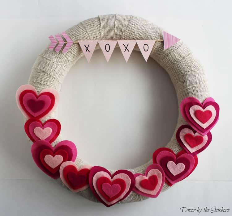 17 Diy Valentine S Day Wreaths To Make