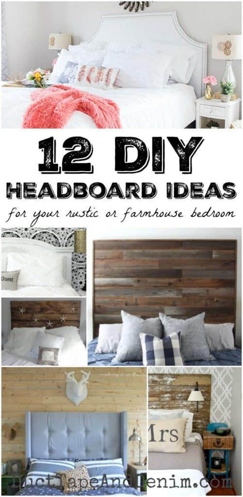 12 diy headboard ideas for your rustic or farmhouse bedroom for Duct tape bedroom ideas