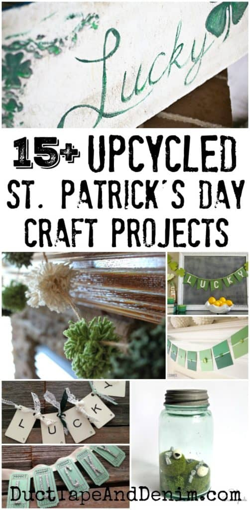 15+ upcycled St. Patrick's Day DIY craft projects. More holiday ideas on DuctTapeAndDenim.com