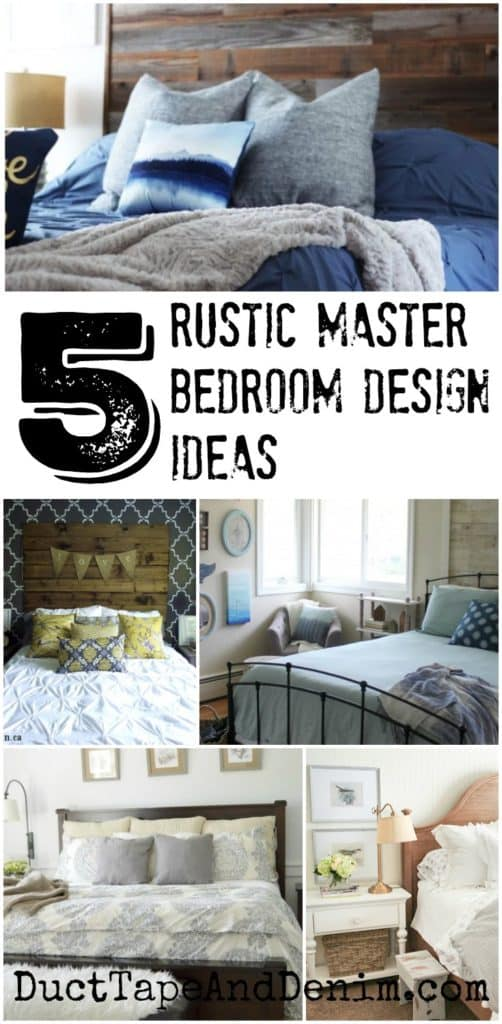 5 Rustic Master Bedroom Design Ideas and more DIY home decor on DuctTapeAndDenim.com