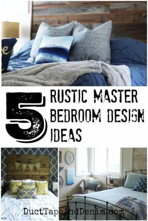5 rustic master bedroom design ideas, collage 1