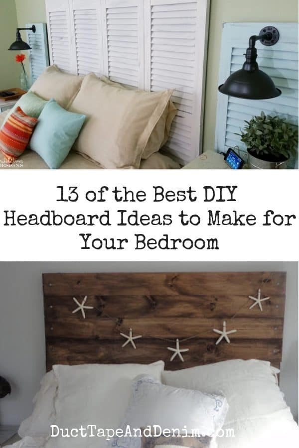13 of the best DIY headboard ideas, collage 1