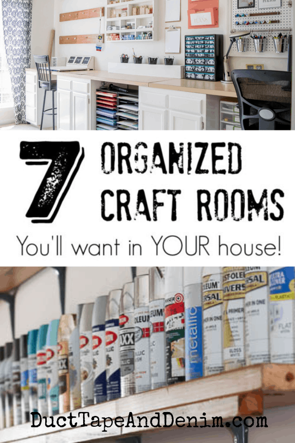 7 organized craft rooms, collage 1