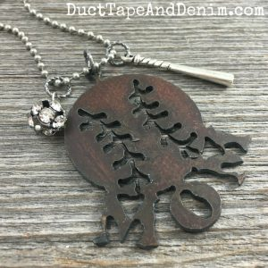 Baseball mom necklace | DuctTapeAndDenim.com/shop