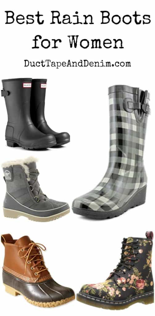 Best rain boots for women, what to wear to flea markets in fall, winter, or spring rainy season | DuctTapeAndDenim.com