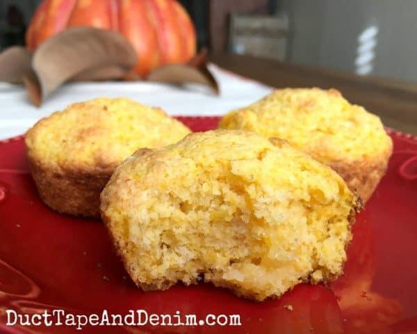 Butternut squash cornbread muffin recipe | DuctTapeAndDenim.com