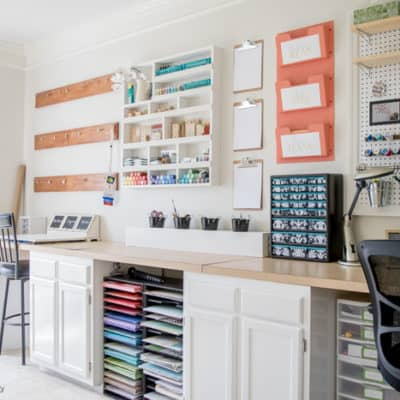 7 Organized Craft Rooms, Small Spaces on a Budget!