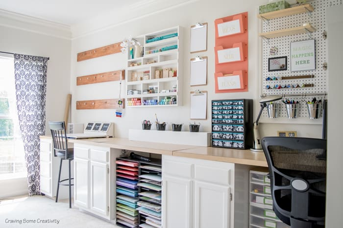 Organized craft rooms 7 small craft rooms on a budget