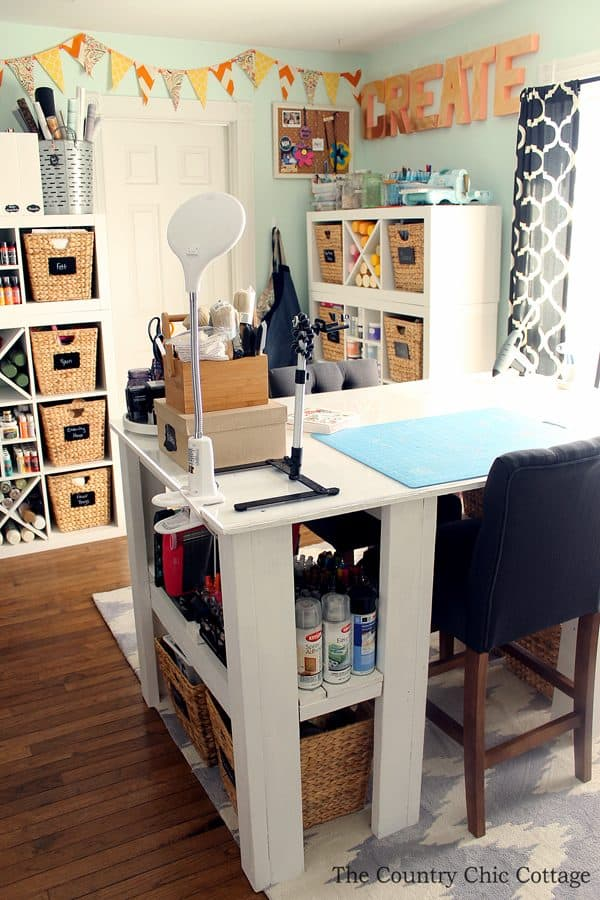 craft room tour with amazing desk