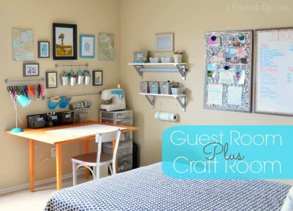 craft room guest room combination