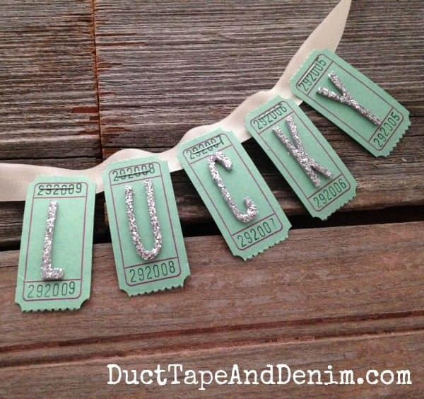 DIY Lucky ticket St. Patrick's Day garland