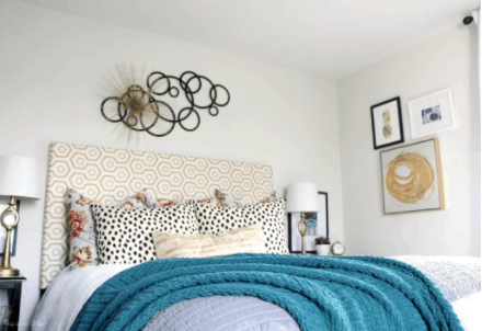 DIY-Upholstered-Headboard-from-a-Curtain
