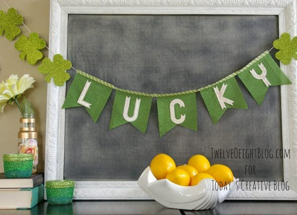 Ombre Votives & more DIY St. Patrick's Day decorations on DuctTapeAndDenim.com