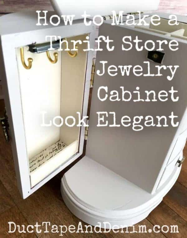 how to make a thrift store jewelry cabinet look elegant