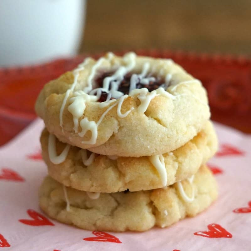 Raspberry Thumbprint Cookies, Easy Cake Mix Cookie Recipe