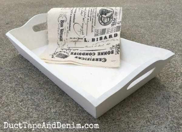 Remote control tray DIY with paint and canvas | DuctTapeAndDenim.com