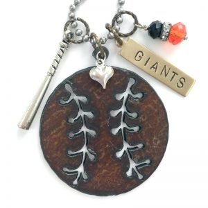 San Francisco Giants Necklace, baseball jewelry. ANY team available. DuctTapeAndDenim.com/shop