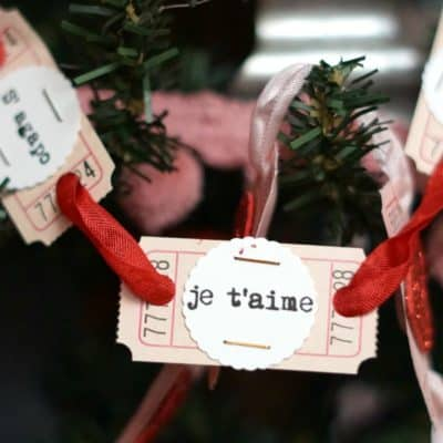 Love in Any Language Ticket Garland, an Easy Valentine's Day Decoration