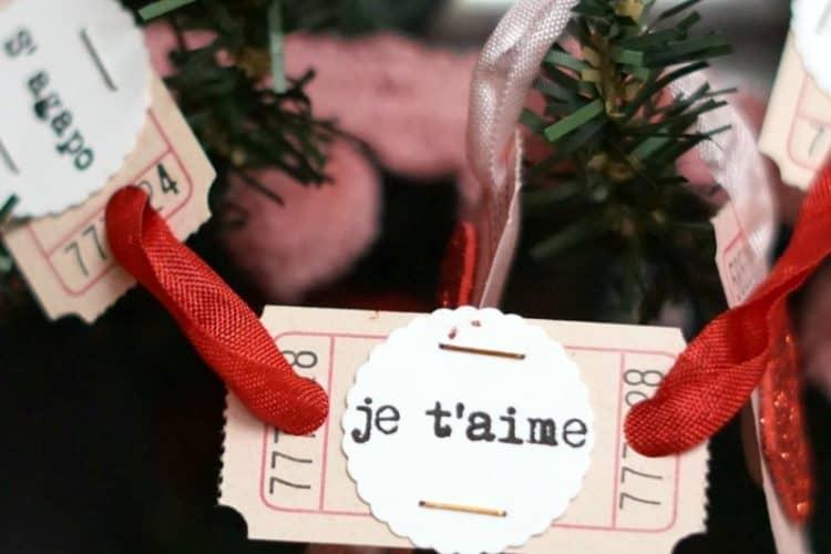 Valentine's Day garland, ticket banner, Love in any language craft | DuctTapeAndDenim.com
