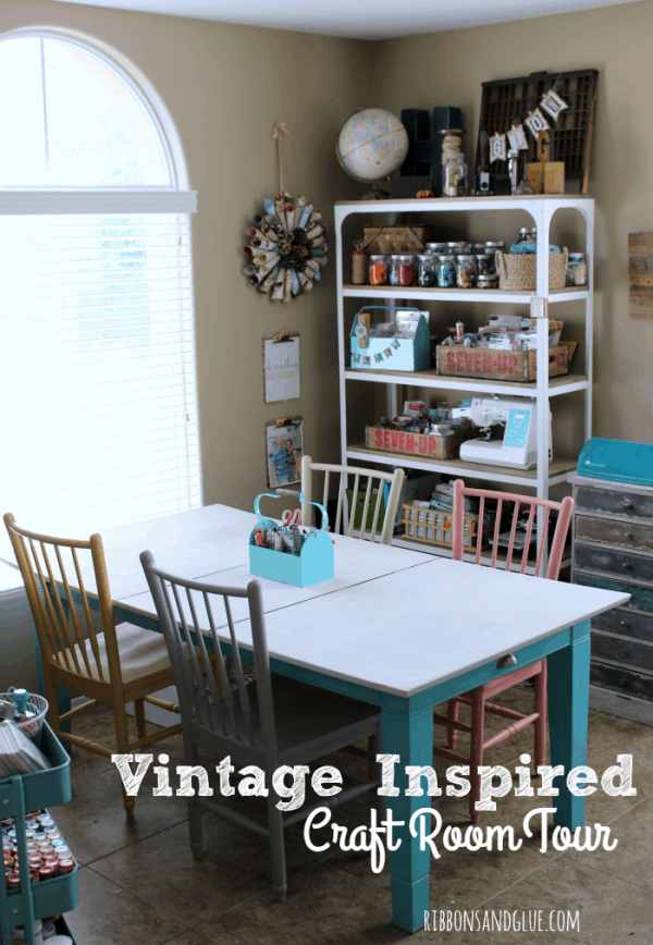 vintage inspired craft room tour