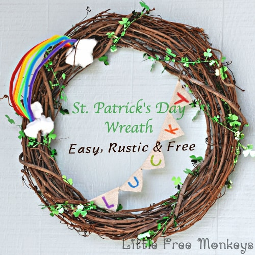 $5.00 St. Patrick's Day wreath, more DIY craft ideas on DuctTapeAndDenim.com