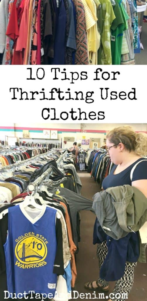 10 tips for thrifting used clothes, guide to thrift store clothes shopping