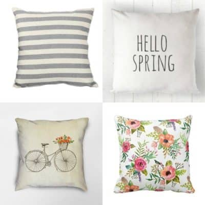 15 Spring Pillow Covers Starting UNDER $10.00