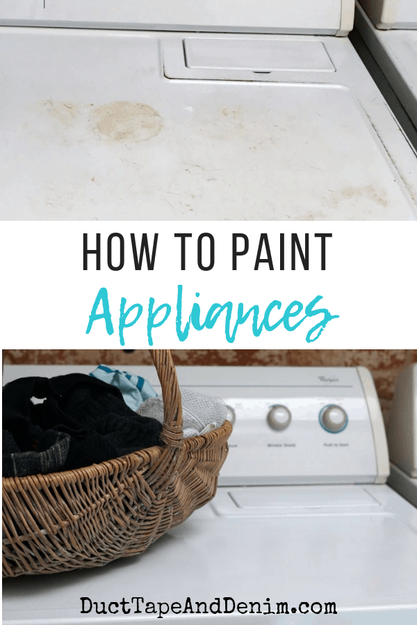 How to paint a washer, dryer, or other home appliances