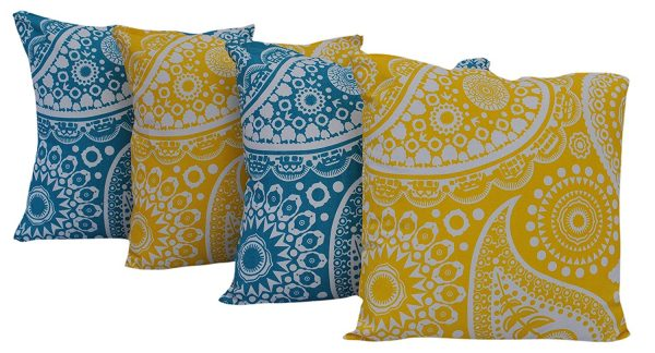 Colorful Paisley Pillow Covers, more spring pillow covers on DuctTapeAndDenim.com