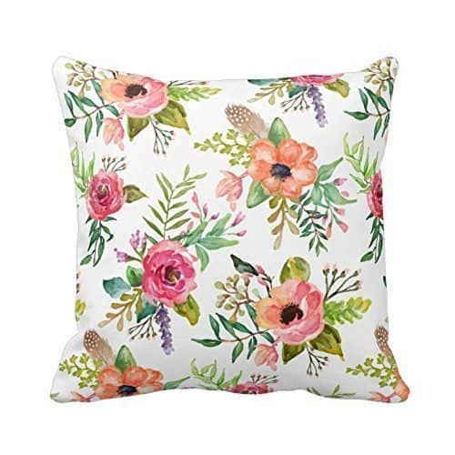 Cotton Linen Floral Pillow Cover. See more spring pillow covers on DuctTapeAndDenim.com